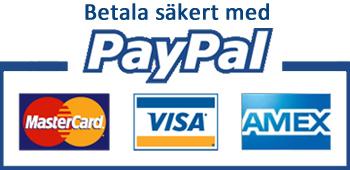 Säker betalning med PayPal - Inget konto krävs!