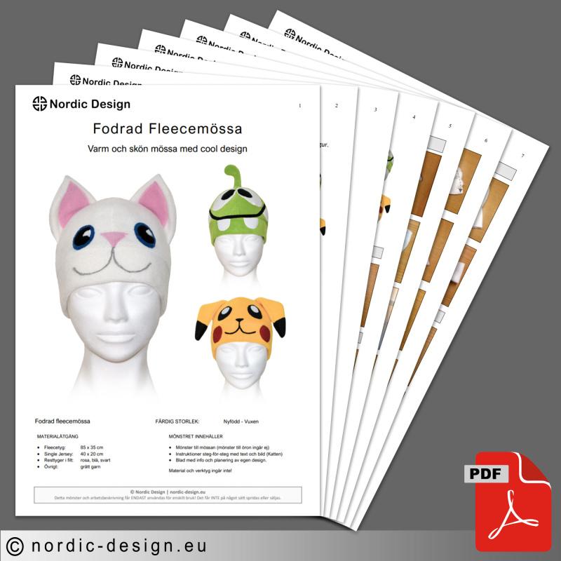Mönster - Sy och designa en egen fleecemössa.
