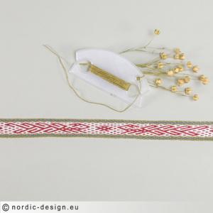 Brickvävt band med motiv <br>Fåglar, 58,5cm