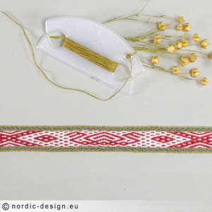 Brickvävt band med motiv <br>Vikingaskepp, 39cm